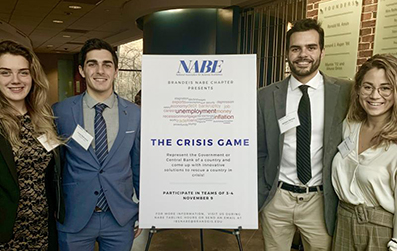 Emmanuel students presented at Brandeis University conference
